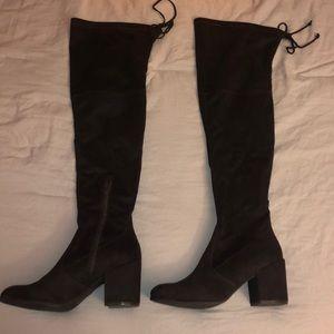UNISA dark brown over the knee boots
